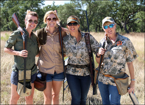 Amber Haynes Amye Brown Sara Malouf Leslie Turnbow at a charity sporting clays shoot
