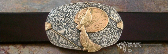 How Shotgun Engraving Inspired Beautiful Belt Buckles: A Conversation with Neil R. Hunt